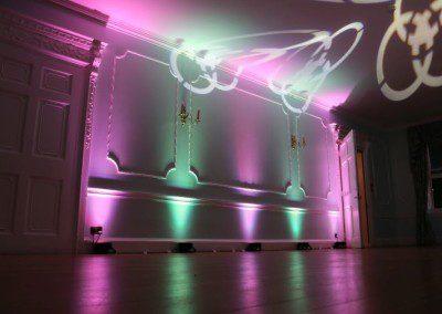 Room uplighting at the Commisoners House, Chatham Dockyard
