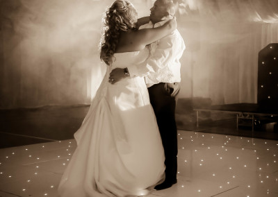 First dance on the starlit floor