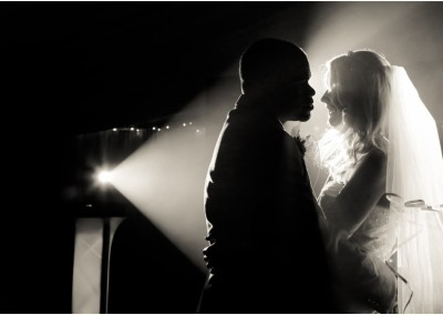 First Dance backlit