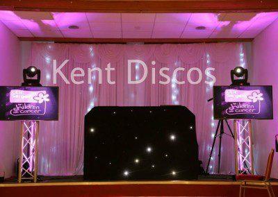 Disco setup with TVs
