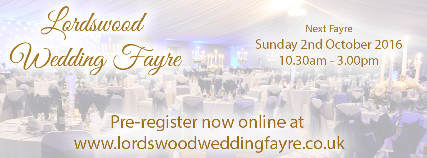 Lordswood Wedding Fayre – Sunday 2nd October 2016